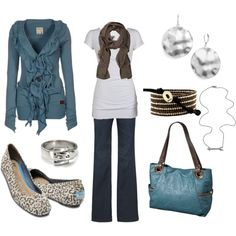 feeling blue, created by jayneann1809.polyvore.com