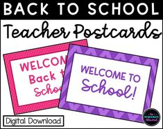 Welcome Back To School, Back To School Teacher, School S, Kindergarten Teachers, New Teachers, Teacher Postcards, Starting School, New Class, Your Message