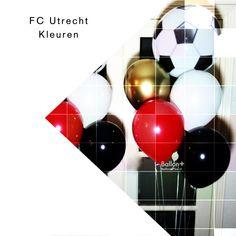 FC Utrecht Fan? Dan is dit de perfecte ballonnen tros. #ballonboeket #heliumboeket #feestelijk #verassing #emoties #roodwitgoud #chroomballon #fcutrecht #voetbal #ballonplusnl🎈 #party #feestdecoratie #waarisdatfeestje #youneverforget Utrecht, Gym Equipment, Fans, Workout Equipment