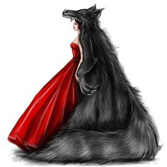 """Little Red Riding Hood"" dress❤ Watch my story to see the steps🙌 - Daniel Islas - Fashion Design Drawings, Fashion Sketches, Art Sketches, Red Ridding Hood, Red Riding Hood Wolf, Zeina, Zodiac Art, Maquillage Halloween, Designs To Draw"