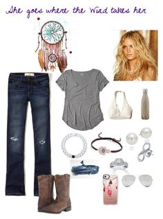 """""""Country boho"""" by madisonbrown904 on Polyvore featuring Hollister Co., Lokai, Bling Jewelry, AK Anne Klein, Neil Lane, Ariat, Sunny Rebel, Casetify, S'well and country"""