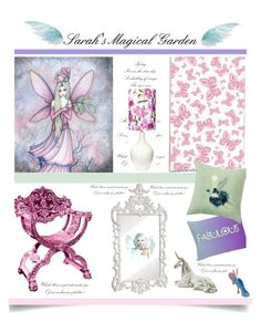 """""""Sarah's Magical Garden'"""" by dianefantasy ❤ liked on Polyvore featuring interior, interiors, interior design, home, home decor, interior decorating, Mirror Image Home and bedroom"""