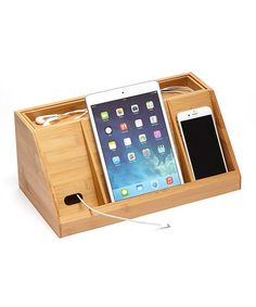 Another great find on #zulily! Bamboo Charging Station #zulilyfinds