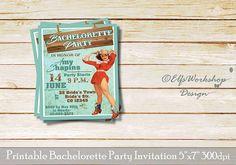 Cowgirl bachelorette invitation Pin Up Bachelorette party
