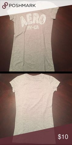 Aeropostale Tee Gray and white sparkly logo tee Aeropostale Tops Tees - Short Sleeve