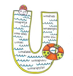 U-kirjain Värinauttien aakkosissa Teaching Reading, Alphabet, Kindergarten, Preschool, Language, Classroom, Letters, Writing, Education