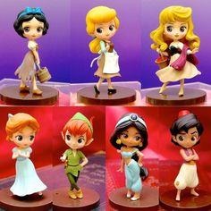 Petite: Wendy, Peter, Aladdin, Snow White, Sleeping Beauty and Cinderella. Disney Princess Art, Disney Art, Disney Dream, Disney Magic, Clay Projects, Clay Crafts, Disney And Dreamworks, Disney Pixar, Disney Figurines