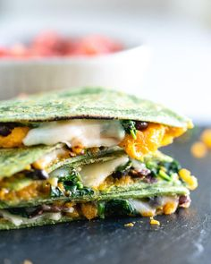 This loaded veggie quesadilla recipe is one the tastiest around—and it's packed with veggies! It's perfect for healthy dinner ideas for kids, and adults too. #healthy #mealprep #veggies #recipesforkids #kiddinners #healthykidfood #quesadilla #veggiequesadilla