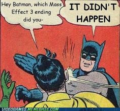 Mass Effect 3 ending - it never happened!