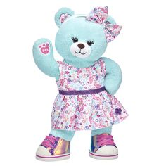 Thin Mints® Cookie Bear is dressed and ready for all the fun adventures that come with being a Girl Scout! This mint green bear looks super cute wearing a fashionable outfit with a fun Girl Scout doodle print. TM & © Girl Scouts of the USA Build A Bear Accessories, Cinderella Cupcakes, Girl Scout Uniform, Green Bear, Daddys Little Princess, Thin Mint Cookies, Bear Girl, Daisy Girl Scouts, Thin Mints