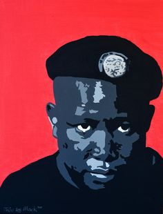 Portrait of Julius Malema by David Mack. Acrylic on canvas
