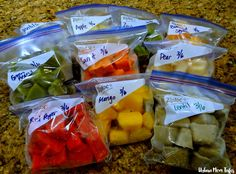 Stage 2 Homemade Baby Food Frozen In Ziploc Bags