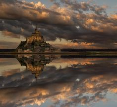 Mirror, mirror, on the wall, who's the fairest of them all?  Mont Saint-Michel by Alexander RIek  Discover the most hidden places on our travel map!