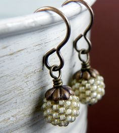 Drops of Color Earrings... Pistachio BEAUTIFUL!! $28     *I have these caps