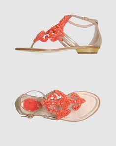 688efa180c50ec I love Barbie! RENE  CAOVILLA Flip flops Orange Flip Flops