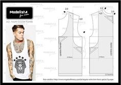 How to sew a T-shirt for Men - Sewing Method Mens Sewing Patterns, Sewing Men, Sewing Clothes, Clothing Patterns, Diy Clothes, Men's Clothing, Le Polo, Modelista, How To Make Clothes