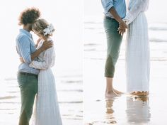 beach shooting young beautiful couple love model sea water germany netherlands kreativ wedding :)