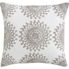 bombay fog pillow - reverses to dark grey with white design