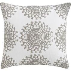 bombay fog pillow - reverses to dark grey with white design