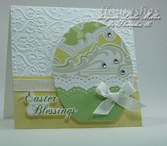 Easter card idea - egg template from a good egg