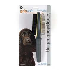Tackle tangles and add shine with the GripSoft Double Sided Brush