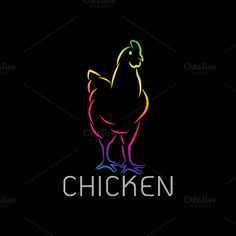 Vector image of an chicken design @creativework247