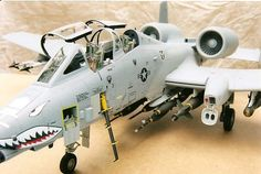 A-10B Warthog1/32 scale with significant aftermarket details. Currently resides at the Aurora air museum in Oregon.