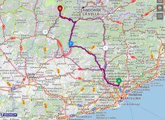 Ruta Alternativa SBD-Rialp. C58 dirección Manresa. En Manresa coger la C-25 dirección Calaf, Torà, Ponts, Artesa. En Ponts rotanda que puedes ir hacia Artesa; hacia Isoria/Tremp o hacia La Seu/Andorra (que enlazarías con la ruta 2). Lo lógico no es enlazar hacia ruta 2, sino coger dirección Tremp.  Desde Tremp hacia Sort i de Sort a Rialp.