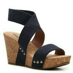 🎉2X HP 7/24 & 8/2🎉LUCKY WEDGES 🎉🎉2X HOST PICK 7/24/16 BEST IN SHOES 8/2/16 BEST IN SHOES🎉🎉 LAST PAIR!!! NWOT &  NWOB NEW LUCKY WEDGES Cute Cork Wedges for any occasion! LUCKY Brand.  Very Comfortable.  Shabby Chic! SUPER CUTE AND COMFY!!! NEW without box/tags.  Size 10 Navy.  Straps are elastic and easy to get off and on.  Not worn.  Not stretched out *NO TRADES PLEASE NO RETURNS* Lucky Brand Shoes Wedges