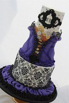 gothic style inspired cake