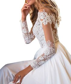 2d86611a441 JQLD Womens Tulle Tea Length Wedding Dress Lace Cap Sleeve V Neck Bridal  Gowns US2 White
