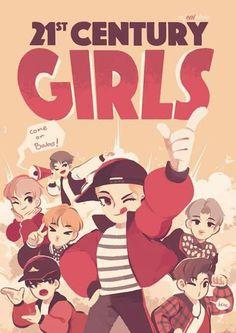 21 century girl poster- So cute ^^