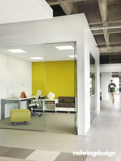Glass keeps open look for offices