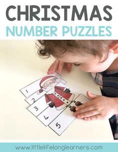 Christmas number puzzles for toddlers and preschoolers | Printables for learning | Christmas, end of year, holiday printables and resources | Australian teachers and parents | Playful learning |