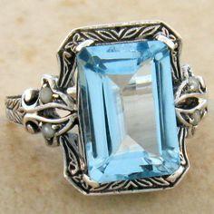 5ct Blue Topaz Ring