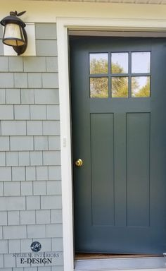 What Are The Best Paint Colours for a Front Door? The Top 9 Front Door Paint Colours Did you know that painting your front door is one of the BEST ways to add curb appeal to your home? And in ONE AFTERNOON, you can take a ho-hum door and turn Victorian Front Doors, Cottage Front Doors, House Front Door, Vintage Doors, Antique Doors, Gray Front Door Colors, Exterior Door Colors, Exterior Design, Garage Door Colors