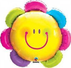 Folieballon Funny Flower Smile