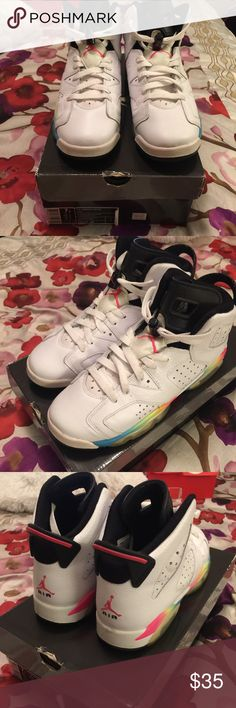 f9bc3d719306f Air Jordan Rainbow 6 - 7.5Y Surprisingly found these at an Nike Outlet back  in