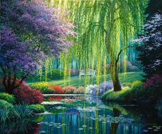 Garden stream.