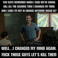 The Walking Dead #FUCKYEAH #TWD #RICKGRIMES #GANGSTA #LOL