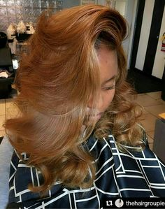 In love with this golden hair color and that bang Gorgeous fall color Coco Black Hair provide the most natural looking hair and wigs Change yourself today! Dyed Natural Hair, Pelo Natural, Love Hair, Gorgeous Hair, Big Hair, Weave Hairstyles, Pretty Hairstyles, 80s Hairstyles, Everyday Hairstyles
