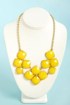 Jewel-cy Fruit Yellow Statement Necklace Get 7% Cash Back http://www.studentrate.com/itp/get-itp-student-deals/lulu-s-Student-Discount--/0