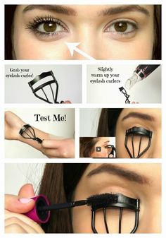 Curling your eyelashes with an eyelash curler while applying mascara at the same. - - Curling your eyelashes with an eyelash curler while applying mascara at the same time helps keep them curled longer. Makeup Hacks Eyelashes, Curling Eyelashes, Longer Eyelashes, Long Lashes, Curl Lashes, Best Makeup Tutorials, Best Makeup Products, Makeup Tips, Beauty Makeup