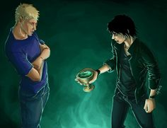 """""""You asked me about trust, and taking a risk? Well, here you go, son of Jupiter. How much do you trust me?"""" (Nico Di Angelo and Jason Grace) ~ The House of Hades Hades Percy Jackson, Percy Jackson Quotes, Percy And Annabeth, Percy Jackson Fandom, Rick Riordan, Do You Trust Me, The Last Olympian, House Of Hades, Jason Grace"""