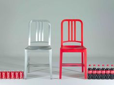 emeco chairs - recycled