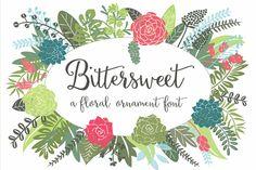 Bittersweet Ornaments by Sweet Type on Creative Market