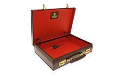 Ettinger London Luxury Leather Heritage Nut St James Lid-Over Attaché Case