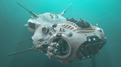 Sea Drone, David Ancira on ArtStation at https://www.artstation.com/artwork/wmWR9