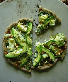 artichoke avocado pesto mini-pizza | two foodies & a pup