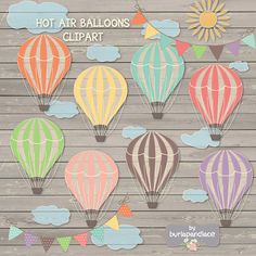 Check out Hot air balloon clipart by burlapandlace on Creative Market